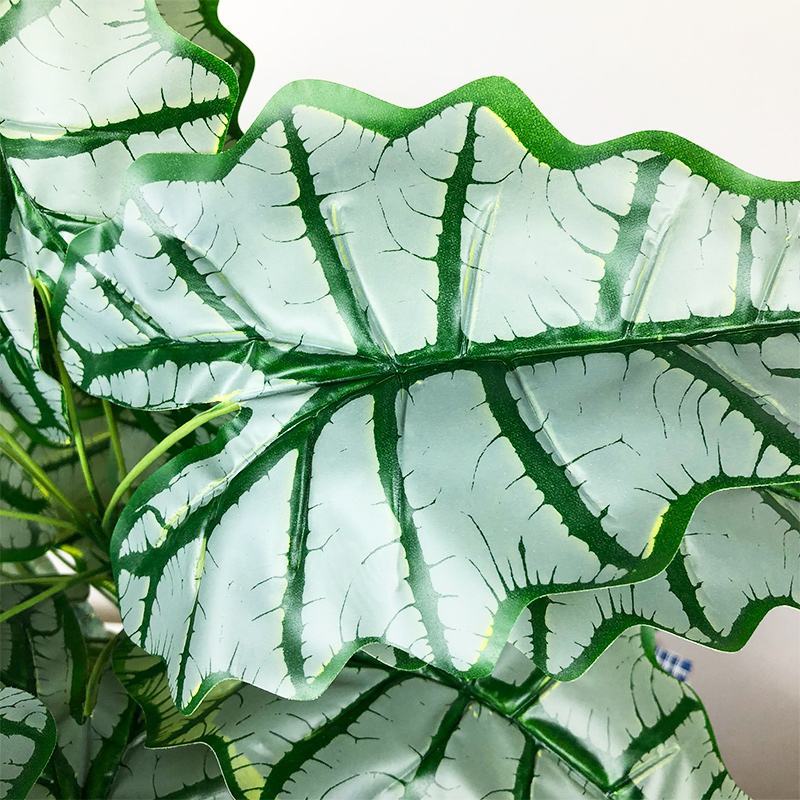 76cm/55cm Large Artificial Monstera Tropical Plants Fake Palm Tree Plastic Maranta Leaves Big Plant for Home Office Decoration-4