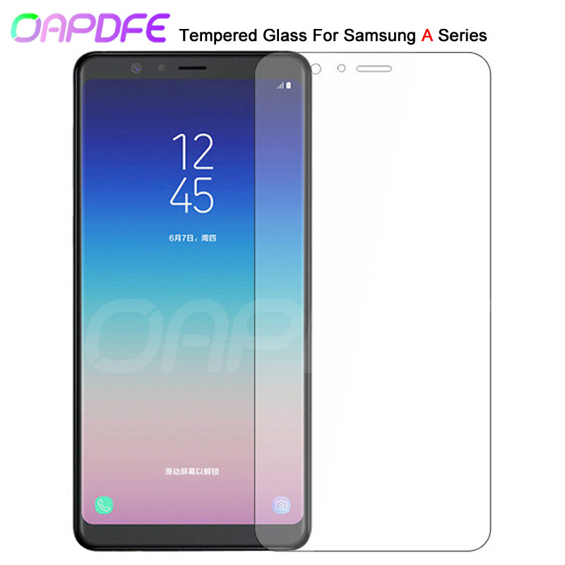 9H Premium Tempered Glass For Samsung Galaxy A3 A5 A7 2015 2016 2017 A6 A8 Plus A9 2018 Screen Protector Protective Film Case