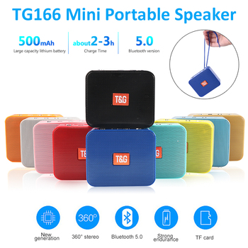 Mini Speaker TG166 Portable Music Player With FM Radio Bluetooth Speakers Subwoofer Outdoor Hands-free Calling de som altavoces