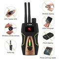 Sem fio Duplo Antena RF Signal Detector Anti-spy Candid Camera GSM Áudio Varredura GPS Localizador de Privacidade Proteger Segurança Dropship