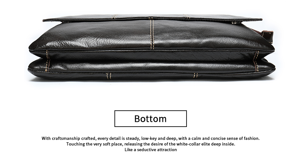 H58a1d96826614d2da1d8dff02c8e4143v Bag Men's Briefcase Genuine Leather Office Bags for Men Leather Laptop Bags Shoulder/Messenger Bag Business Briefcase Male 7909