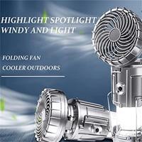 Linterna Led portátil 6 en 1 para exteriores, luz de Camping con ventilador, horno Solar plegable, linterna con ventilador recargable, envío directo