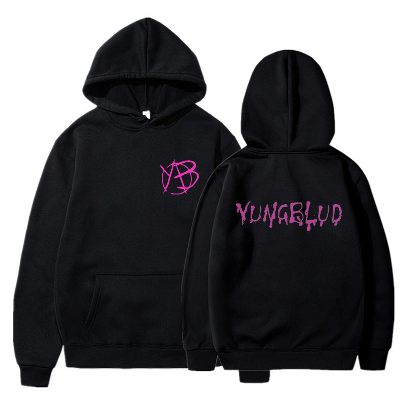 Yungblud Harajuku style girl white and pink hooded top women's sweatshirt long sleeve winter top women's hoodie Kawaii