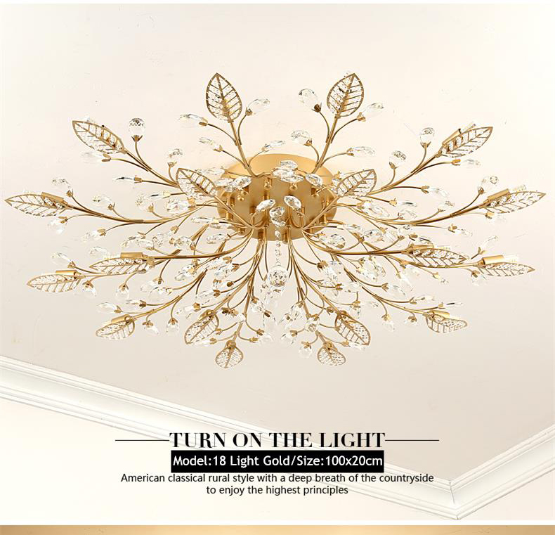 H58a221fb01a54235aa2ed12ad97c842cN TRAZOS New item fancy ceiling light LED Crystal ceiling lamp modern lamps for living room lights,AC110-240V DIY Crystal lighting