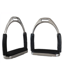 1Pair Stirrups Saddle Pedals Safety Flexible Anti Slip Racing Stainless Steel Stirrups Horse Riding Device