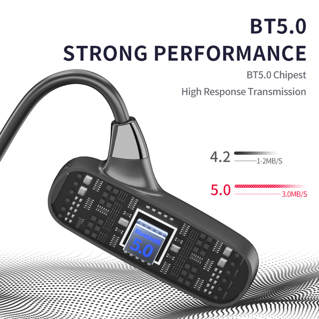 TWS блютуз наушн Bluetooth 5.0 Bone Conduction Earphones Waterproof Fitness Headset Portable Audio and Video Equipment for Sport 5