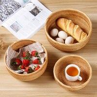 Rattan basket fruit basket fruit bowl bread basket taro basket fruit snacks storage basket candy box melon box WF81741107