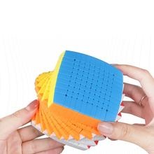 Newest Magic Puzzle 10x10 Shengshou 10x10x10 Speed Cube Stickerless 85mm professional Cubo Magico high level Toys for Children new shengshou 10x10x10 magic cube professional pvc