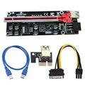 VER009S Plus PCI-E Riser Karte 009S PCIE X1 zu X16 6Pin Power 30CM 60CM 100CM USB 3,0 kabel für Grafikkarte GPU Bergbau