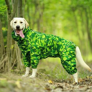 Pet Dog Impermeabile Riflettente Impermeabile Vestiti A Collo Alto Con Cappuccio Tuta Per I Piccoli Cani di Grossa Taglia Pioggia Mantello Golden Retriever Labrador 1