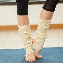 Вязаные гетры для женщин Yo-ga носки для ботинок Манжеты зимние носки для бодибилдинга Polainas Para Mulheres гетры носки для латинских танцев