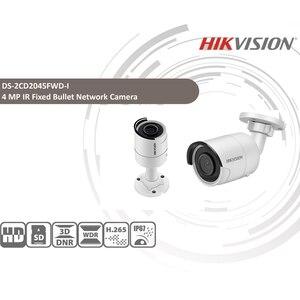Image 2 - Hikvision Original IP Camera Security HD 4MP DS 2CD2045FWD I Night Vision IR30M Bullet PoE Surveillance Web Cam H.265 Card Slot