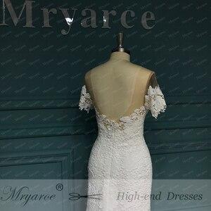 Image 5 - Mryarce 2020 ภาพลวงตาคอปิดไหล่ลูกไม้ Mermaid Love ชุดแต่งงานชุดเจ้าสาว Boho CHIC