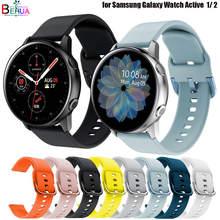 Correa de silicona Original para Samsung Galaxy watch active1 active 2, pulsera de repuesto para reloj inteligente, 40mm, 44mm/3, 41mm