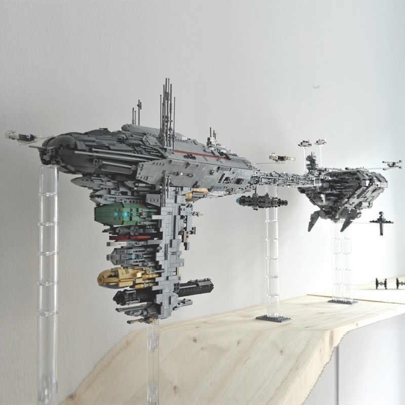 Звездный набор Wars Lepining The MOC 5083 Nebulon toy B медицинский фрегат, набор строительных блоков, кирпичи, детские подарки, игрушки