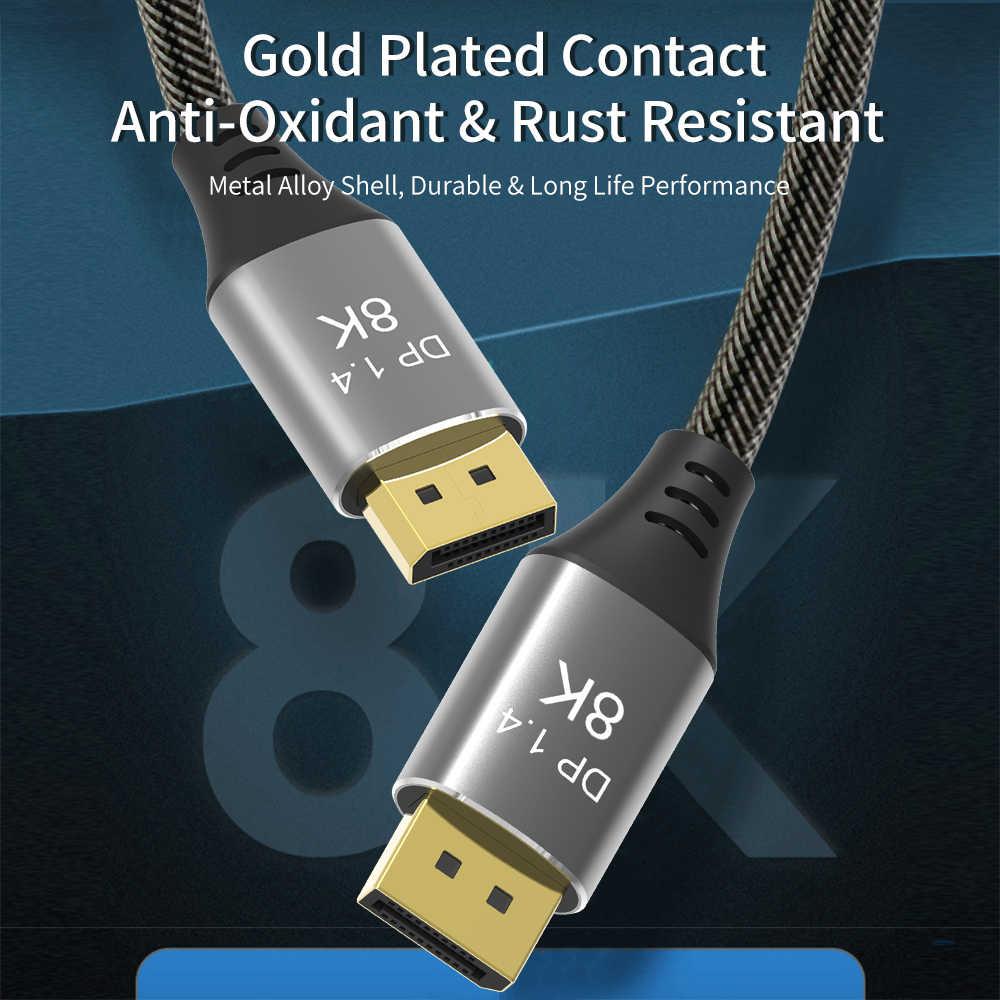 Высокоскоростной кабель для подключения дисплея 144 Гц, порт дисплея 1,4, кабель 8K 60 Гц HD 3D для HDTV, графических карт, проекторов, кабель для подключения дисплея