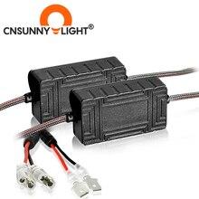 CNSUNNYLIGHT 2PCS H1 H7 רכב LED מפענח Canceller EMC Canbus אוטומטי פנס ערפל אור DRL IC אין שגיאה עבור BMW X1 X2 X5 עבור פולקסווגן