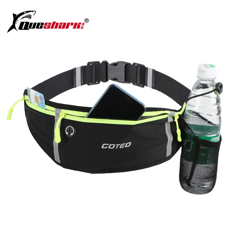 Waterproof Running Sports Waist Bag Outdoor Cycling Waist Pack With Water Bottle Holder Jogging Climbing Fishing Waist Belt Bag