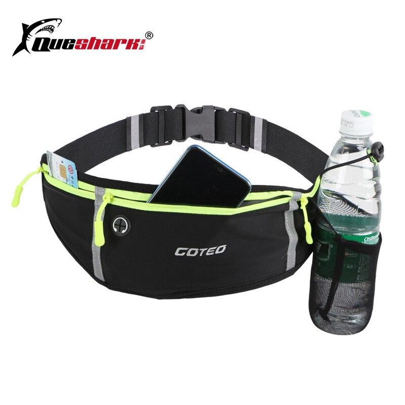 Waterproof Running Sports Waist Bag Outdoor Cycling Waist Pack with water bottle Holder Jogging Climbing Fishing Waist Belt Bag