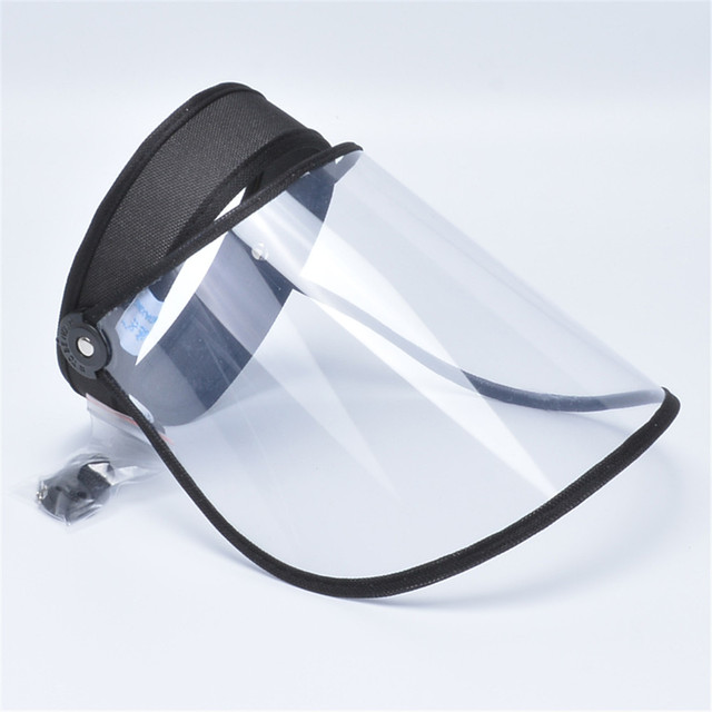 5Pcs Adjustable Transparent Protective Cap Anti-Saliva Splash Mouth Mask Anti-droplet Full Face Mask Windproof Sun Visor Shield 2