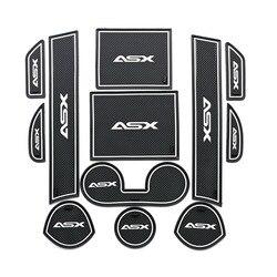 Mata do schowków na drzwiach dla Mitsubishi ASX 2011 2012 2013 2014 2015 2016 2017 2018 RVR Outlander akcesoria sportowe Anti slipmata bramy na