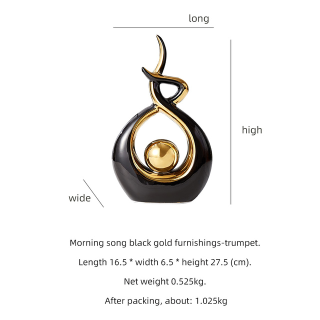 Home Decoration Accessories For Living Room Ceramic Abstract Sculpture Handicraft Statues Office Desk Decoration Art Fgurines 6