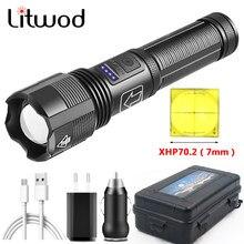 XHP70.2 4-Kern Hochwertige taktische LED-Taschenlampe Power von 18650 AAA Batterie USB wiederaufladbare Taschenlampe Zoombare XHP50.2 Laterne