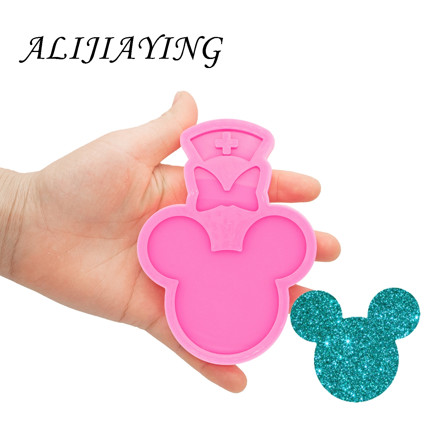 Mouse Head Silicone Mould Epoxy Craft Molds Clay Resin DIY for Badge Reel DY0075