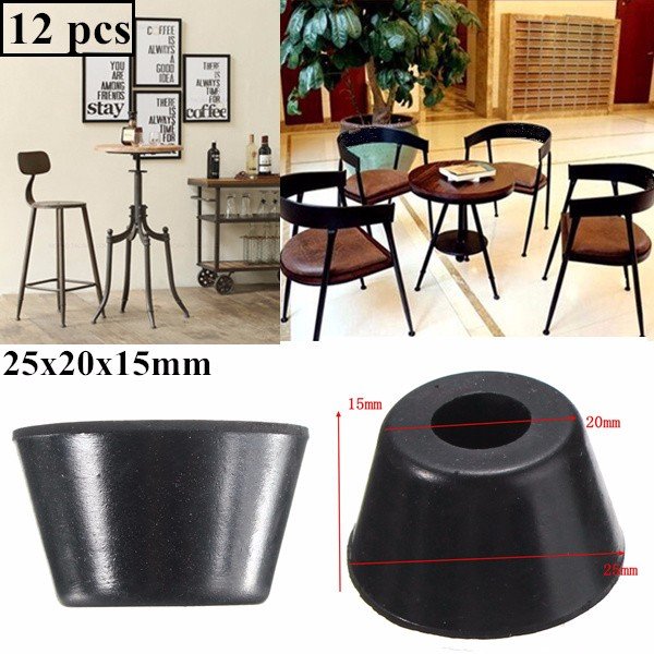 12pcs 25x17x15mm Rubber Table Chair Furniture Feet Leg Pads Tile Floor Protectors Cabinet Bottom Pads Funiture Legs