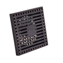 Rejilla de residuos de desagüe para el suelo de la ducha cuadrada artística de 10X10Cm Vintage con filtro de pelos Anti olores drena 4 #