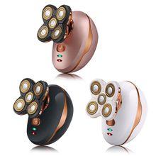 Беспроводная usb зарядка 5D сухая и влажная Электрическая роторная бритва для мужчин водонепроницаемые инструменты для бритья триммер для бороды