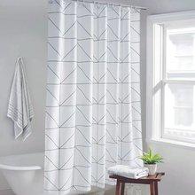 Модные Белые Шторы с сетчатым принтом занавески для ванной разных