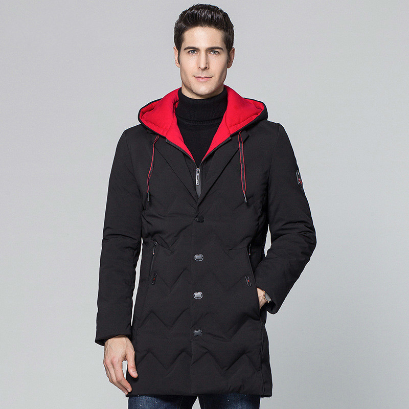 Winter Jacket Men Long Hooded Men's Down Jacket Thick Warm Down Coat Black Parka Male Jackets Casaco Masculino KJ562