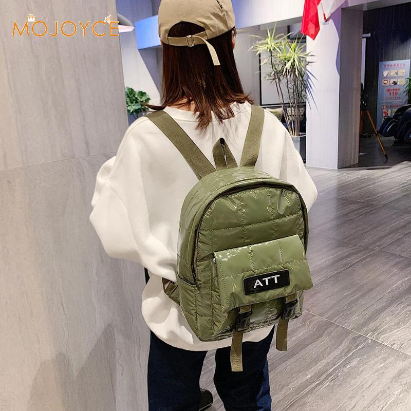 Autumn And Winter New Korean Boom Fashion Jacket Space Cotton Air Bag Backpack Pure Color Casual Women School Shoulder Bag