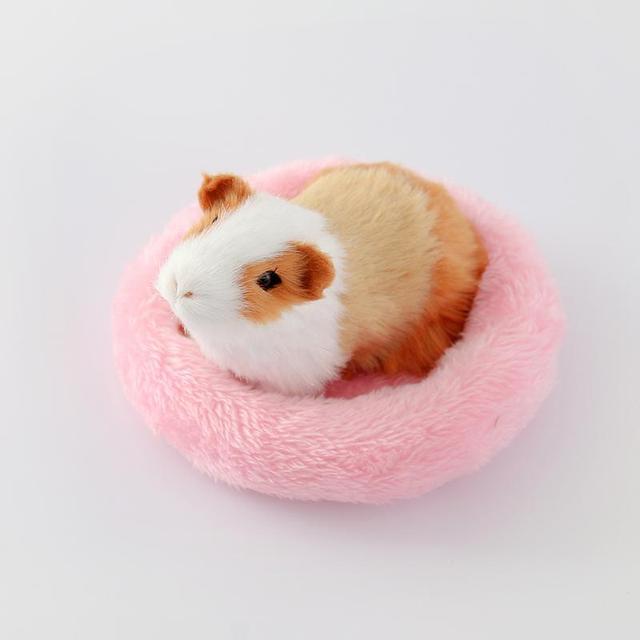 Evcil hayvan malzemeleri kış yumuşak polar gine domuz yatağı küçük hayvan kafesi Mini Mat Hamster sıçan yatak Hamster yatak kanepe kirpi