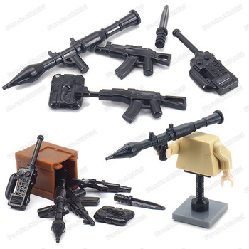 WW2 Weapons Military Building Blocks Rocket Submachine Gun Model Army Figures Special Forces Moc Child Christmas Educational Toy 12pcs set military wapen special armed forces soliders action figures gun toys building blocks compatible legoings for child