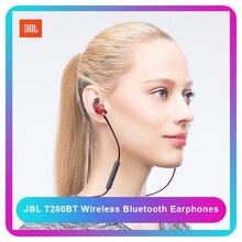 سماعة أذن JBL T280BT سماعة لاسلكية تعمل بالبلوتوث سماعة أذن تستخدم عند ممارسة الرياضة Jbl سماعة أذن سماعات أذن مضادة للتعرق سماعة التحكم في الخط