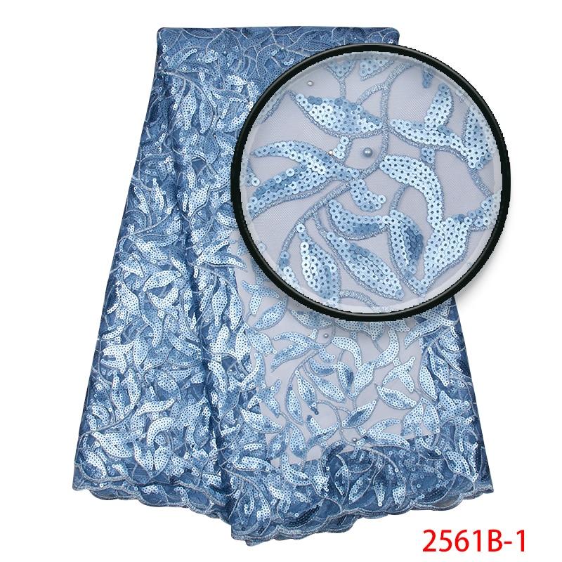 Sky Blue Pailletten Spitze Stoff, Neue Organza Spitze Für Aso Ebi, Nigeria Braut Spitze MR2561B-in Spitze aus Heim und Garten bei  Gruppe 1