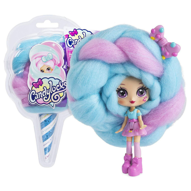 EAKI Cotton candy hairdressing Sweet Treat Toys Hobbies Dolls Accessories weaving blind box 6 random mixing kids toys for girls image