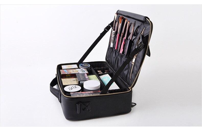 portátil feminino maquiagem grande capacidade de armazenamento de viagem