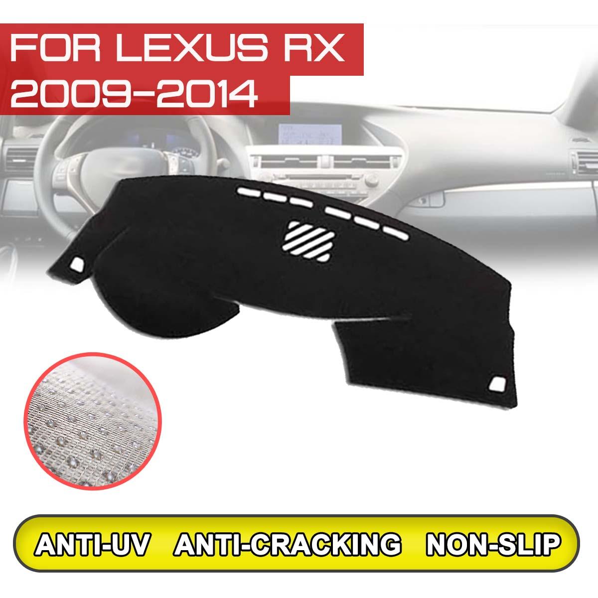 for Lexus RX 2009 2010 2011 2012 2013 2014 Car Dashboard Mat Anti dirty  Non slip Dash Cover Mat UV