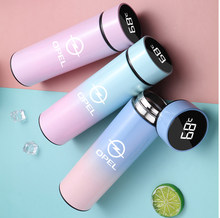500ML Intelligent Thermos Temperature Display Customize Logo Stainless Steel Vacuum Water Cup For opel insignia astra j h g