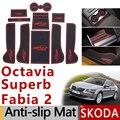 Противоскользящий резиновый коврик для ворот Skoda Octavia a5 a7 2 3 Superb B6 B8 2 3 Fabia 2 2012 2014 2016 2017 аксессуары наклейки