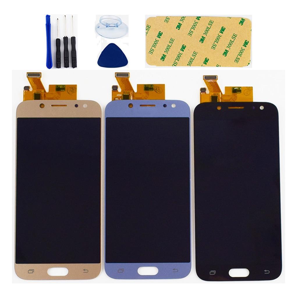 Brilho Ajustável Para Samsung Galaxy J5 2017 J530 J530F J530FM Módulo Display LCD + Touch Screen Digitador Assembléia Sensor
