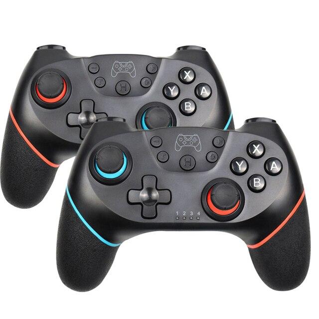 Gamepad sem fio bluetooth para nintendo switch pro ns switch pro controlador de joystick de jogo para console de interruptor com alça de 6 eixos