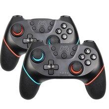 무선 지원 블루투스 게임 패드 닌텐도 스위치 프로 NS 게임 조이스틱 컨트롤러 스위치 콘솔 6 축