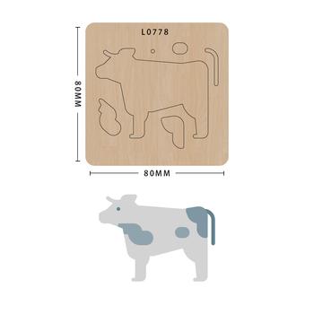 SMVAUON Scrapbook Die Cut bydło DIY handmade nowe matryce do 2020 drewniany szablon do wycinania formy do wykrawania drewna tanie i dobre opinie Zwierząt Leather Tools