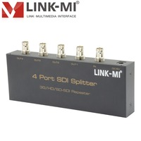 LINK-MI LM-SS14 3G-SDI HD-SDI SD-SDI 1X4 Splitter Hd Sdi Repeater Een Signaal Distribueren Naar Vier Sdi Signaal Uit hd Sdi Repeater