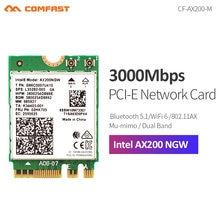 Сетевая карта Comfast, 2400 Мбит/с, Wi-Fi 6, Intel AX200 802.11ax/ac, двухдиапазонный, 2,4 ГГц и 5 ГГц M.2, Bluetooth 5,1, адаптер Intel 9260 для ноутбука