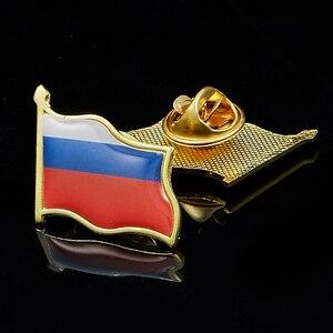 Russian Lapel Pin Art Flag Badges Brooch Hard for Patriotic Display Accessories